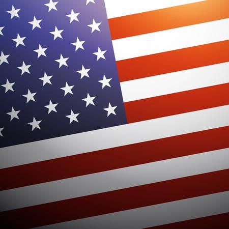 federal election: United State of America flag background, USA flag, vector illustration Illustration