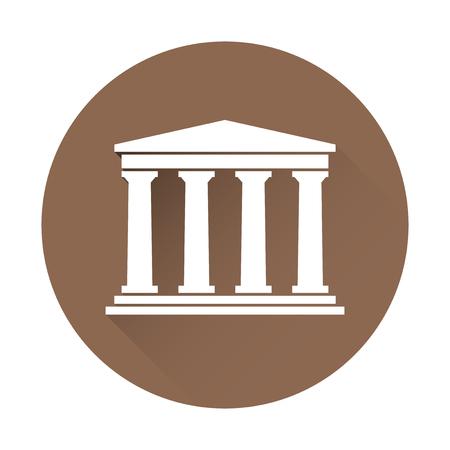 Architektur griechischen Gebäude Symbol Vektorgrafik