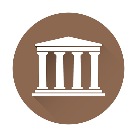 derecho romano: Arquitectura edificio s�mbolo griego Vectores