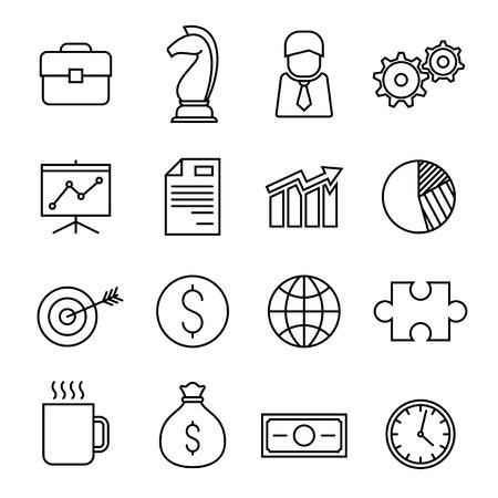 business finance: Business finance line icons, vector design illustration