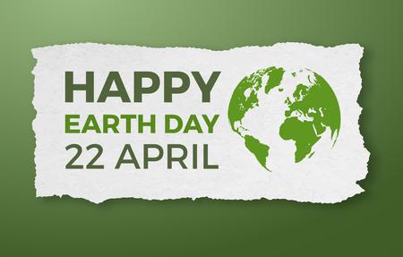 Earth day, April 22, graphic illustration poster Illustration