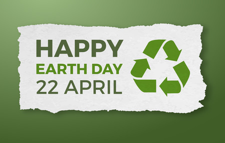 april: Earth day, April 22, graphic illustration poster Illustration