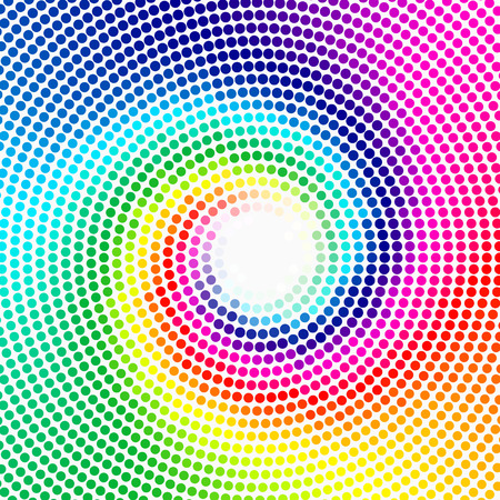 spiral vector: Abstract background - Colorful halftone vector texture - Rainbow spiral Illustration