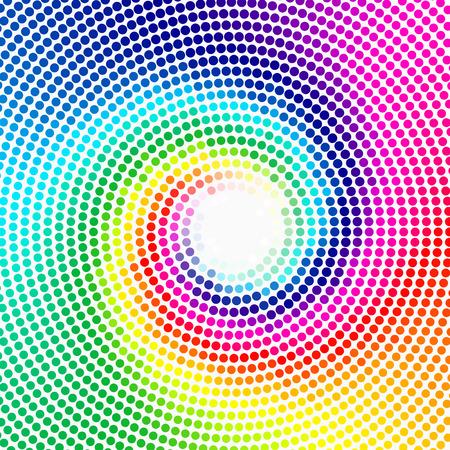 espiral: Resumen de fondo - colorido media de vectores textura - Espiral del arco iris