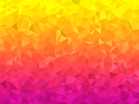 abstract pink: Abstract background - Colorful Geometrical shapes, Polygonal vector texture - Pink and yellow colors