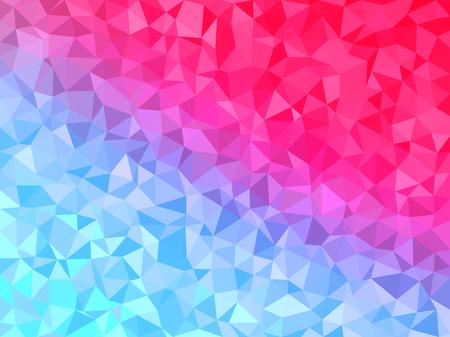 background kaleidoscope: Abstract background - Colorful Geometrical shapes, Polygonal vector texture - Blue and pink colors
