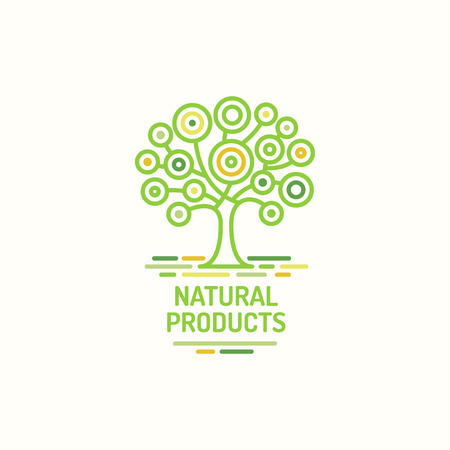 Tree Symbol, Natural Product, Green Tree Icon, Template For Bio ...