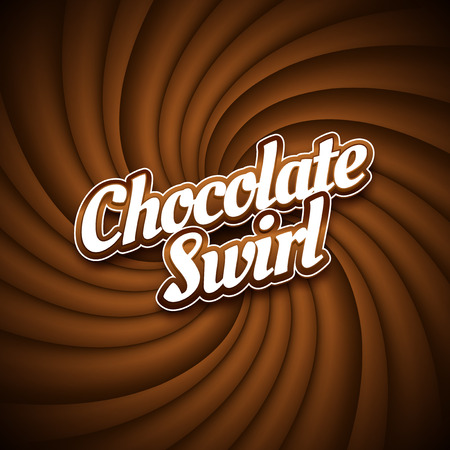chocolate swirl: Milk chocolate swirl background, vector illustration graphic