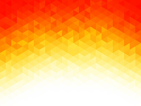 Résumé de fond - Les formes géométriques colorées, texture polygonal pour webdesign - jaune, couleurs rouge, orange Vecteurs