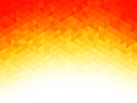 Resumen de antecedentes - Las formas geométricas de colores, la textura poligonal para el diseño web - amarillo, los colores rojo, naranja Ilustración de vector