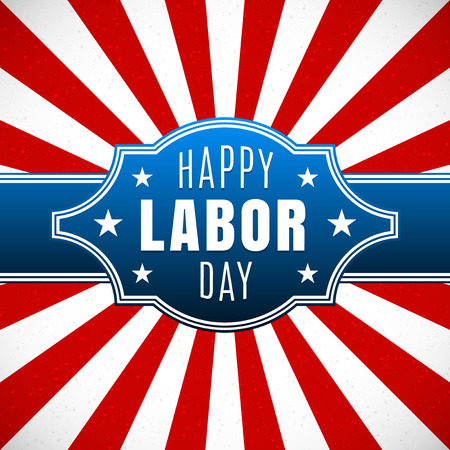 Labor day, Holiday in United States celebrated on first monday in September, vector illustration