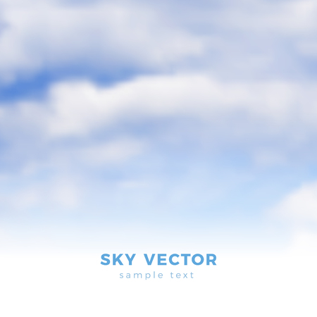 heaven: Fluffy clouds on blue sky, heaven illustration - gradient mesh