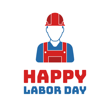 celebrated: Labor day worker graphics, Holiday in United States celebrated on first monday in September illustration Illustration