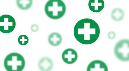 immunodeficiency: Medical background, Green crosses symbols illustration design Illustration