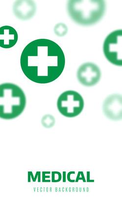 medical symbols: Medical background, Green crosses symbols illustration design Illustration