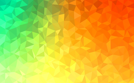 yellow green: Polygonal mosaic - green, yellow, orange - autumn colors