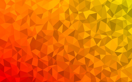 Polygonal mosaic - red, yellow, orange - autumn colors