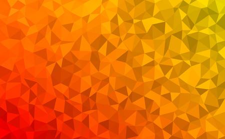 Polygonal Mosaik - rot, gelb, orange - Herbstfarben Vektorgrafik