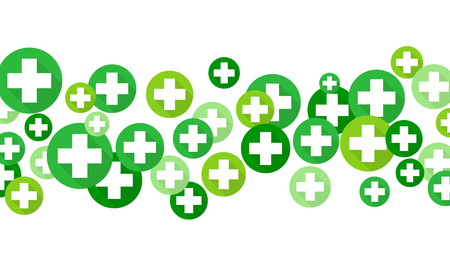 crosses: Medical background, Green crosses symbols illustration design Illustration