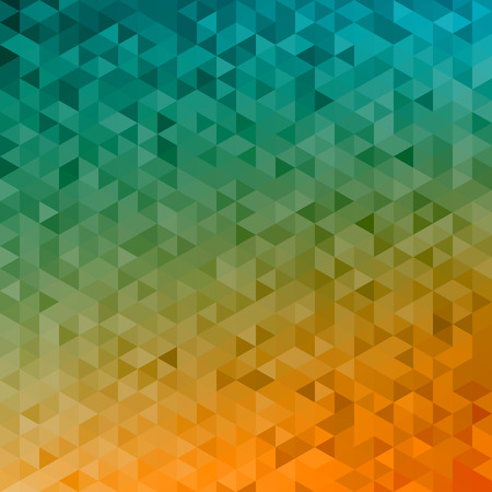 autumn colors: Polygonal vector mosaic - yellow, orange, turquoise - autumn colors Illustration