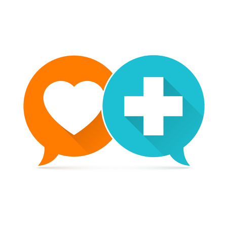 medical symbol: Medical symbol, green cross collage, vector illustration design Illustration