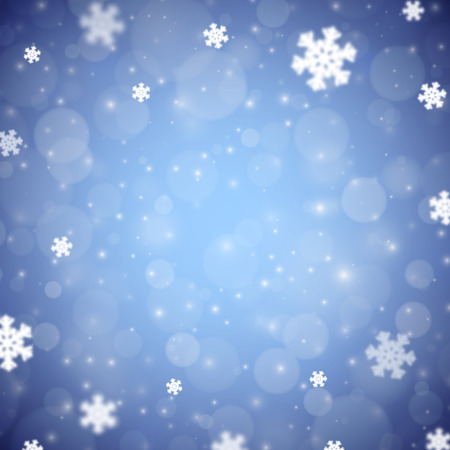 variant: Snowflakes christmas background, blue variant, vector illustration