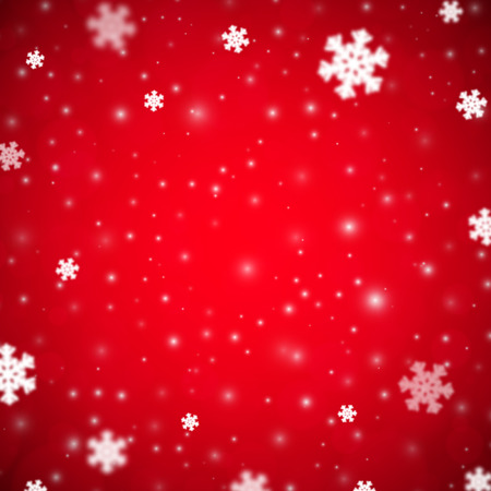 variant: Snowflakes christmas background, red variant, vector illustration