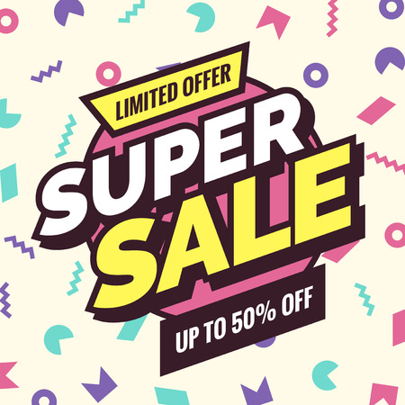 Super sale banner, Retro edition.