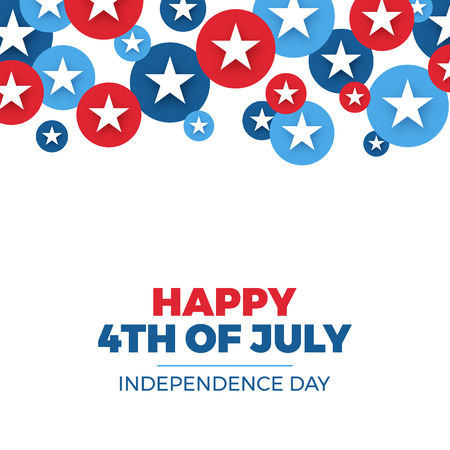 Independence day design. Holiday in United States of America, celebrate 4th of July, star buttons, vector illustration Vettoriali