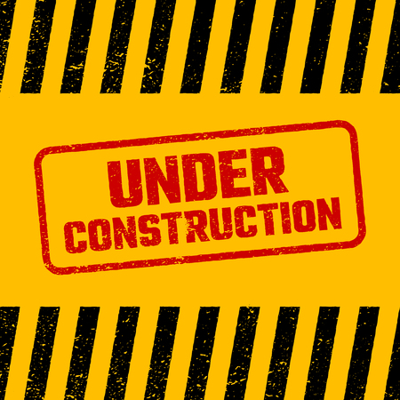 Under construction design, website development concept, vector illustration Illustration
