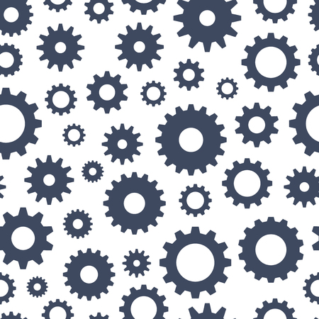 gears: Cogs seamless pattern, technical background, vector illustration Illustration