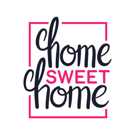 Casa dolce casa, arte lettering design tipografia, illustrazione vettoriale