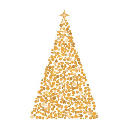 サークルで作ったクリスマス ツリー