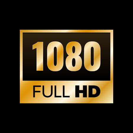 Full HD symbol, High definition 1080p resolution mark