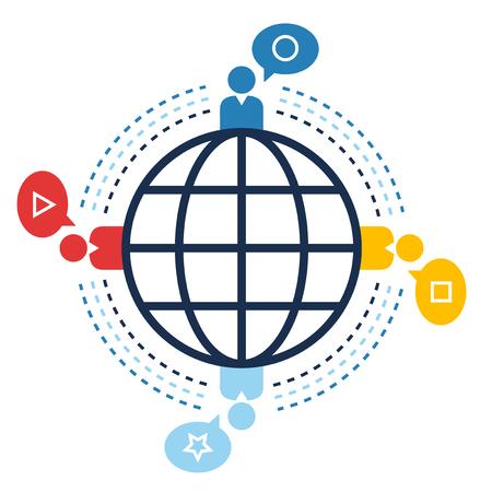World connection communication concept design