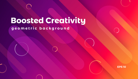 Abstract geometric background, colorful futuristic vector graphic Stock Illustratie