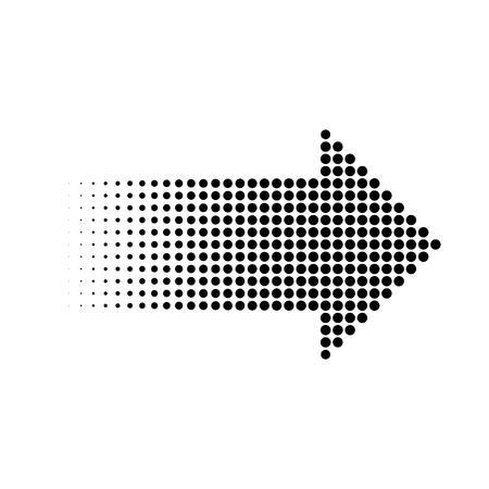 Halftone gradient dots arrow, isolated graphic element, vector illustration Illusztráció