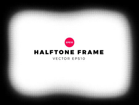 Halftone dots background,grunge frame, overlay pattern, vector illustration