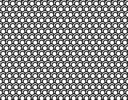 Abstract pattern hexagon, seamless background, black and white, vector illustration Illusztráció