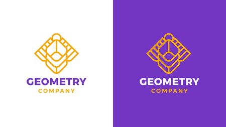 Geometric Logotype template, positive and negative variant, corporate identity for brands, sacred product logo, vector design Logo