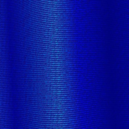 Blue Binary Data, Network concept, technology background, illustration vector