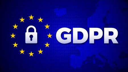 GDPR, General Data Protection Regulation, data protection EU law regulation, vector illustration