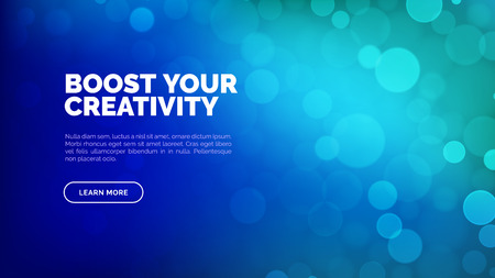 Abstract bokeh background, multicolor defocused lights, landing page for web, vector illustration