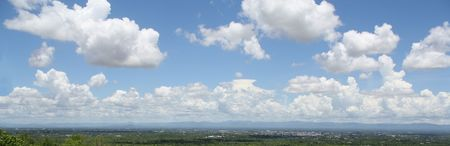 cloud drift: Panorama Scape Stock Photo