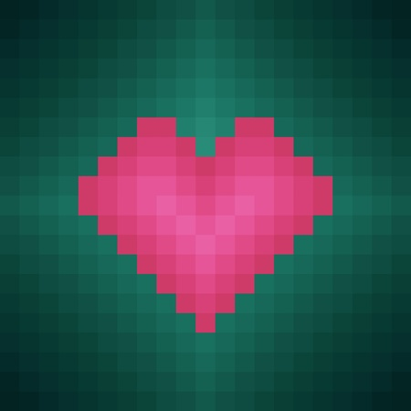 pixel heart Stock Vector - 12028017