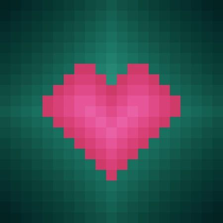 pixel heart Stock Vector - 12028017