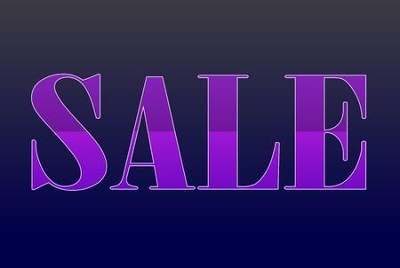 violet sale label Illustration