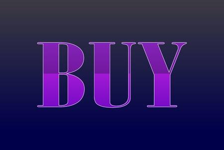 violet buy label Illustration