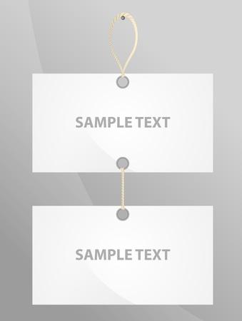 vertical two bare label Illustration