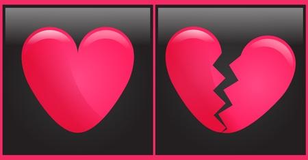 heart and broken heart